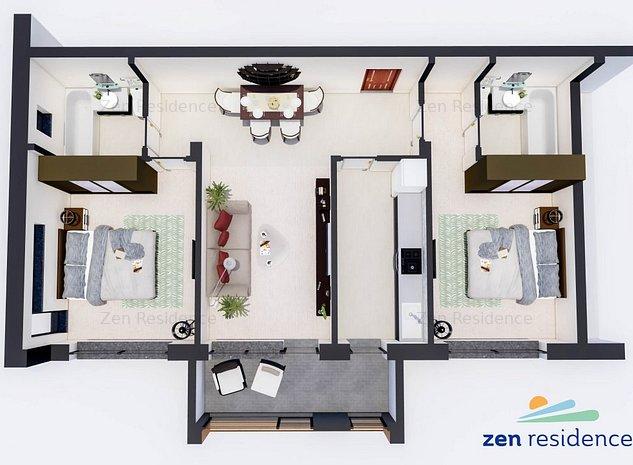 Apartament 3 Camere - Zen Residence Constanta - imaginea 1