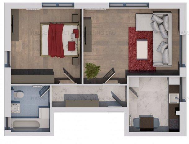 PROMOTIE apartament de 2 camere FINALIZAT in vila. - imaginea 1