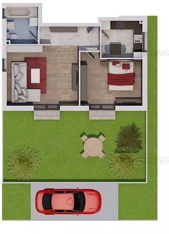 De vanzare un apartament de 2 camere in VILA cu gradina - imaginea 1