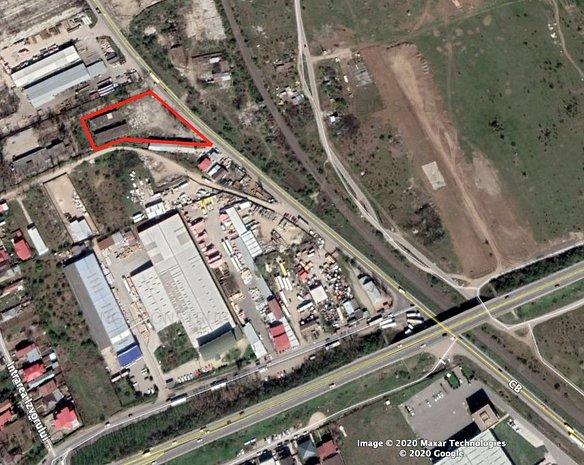 4700mp teren industriala pentru Vanzare cu 2 cladire de beton - imaginea 1