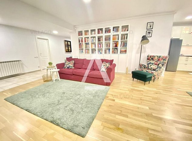 Vanzare apartament 3 camere cu gradina de 80 mp in Herastrau - imaginea 1