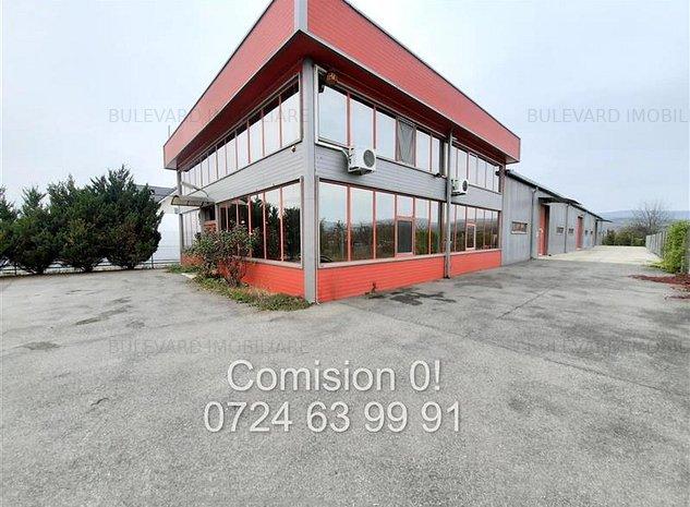 Comision 0! Hala 638 mp + Birouri 288 mp, teren 1750 mp, in Gilau langa autostra - imaginea 1