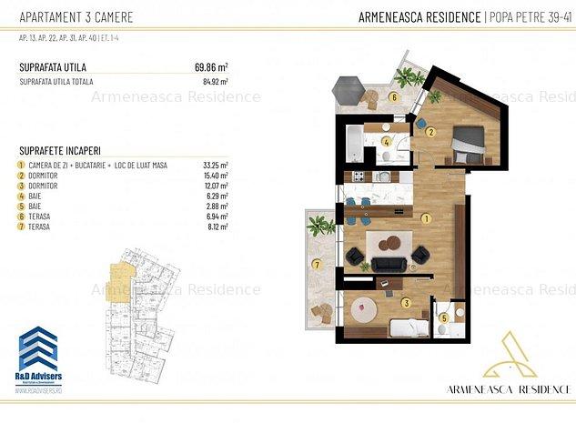 Apartament 3 Camere - Adiacent Universitate - Armeneasca Residence - imaginea 1