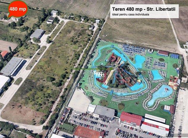 Teren Otopeni - Str. Libertatii 480 mp - imaginea 1