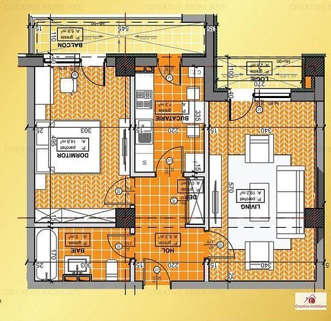 Apartament 2 camere, decomandat, nou, Bucium, 53 - imaginea 1