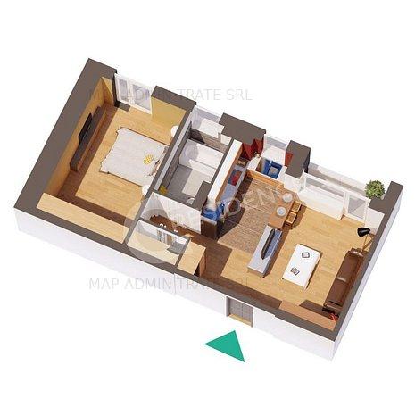 Apartament NOU 2 camera, Podul Ros, 52.85 mp - imaginea 1