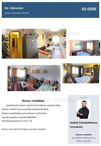 Rahova, Piata Rahova, Apartament 3 camere - imaginea 1
