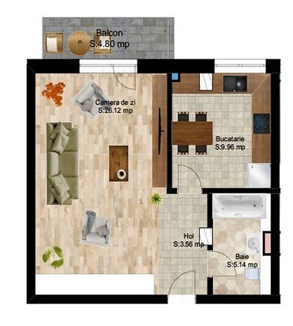 De vanzare| Apartamente 1,2,3 camere| Central| Ansamblu Modern|0% Comision! - imaginea 1