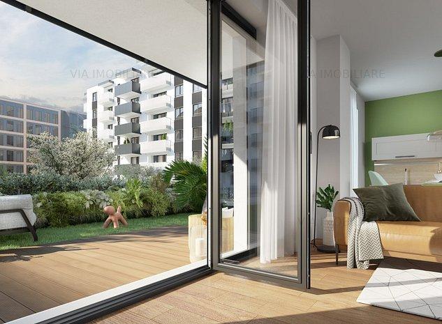 Apartament tip STUDIO, FINISAT, 45 mp + gradina de 24 mp, bloc NOU, Semicentral - imaginea 1
