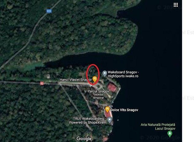 Teren de vanzare cu deschidere la Lacul Snagov - imaginea 1