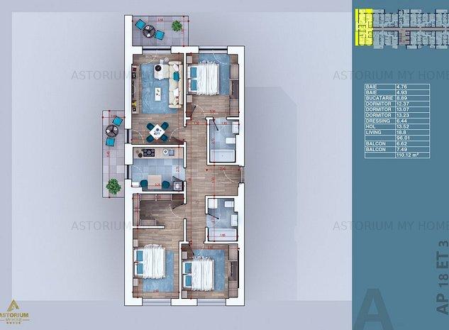 Apartament - vanzare - Astorium My Home - 4 Camere - Finisaje Premium - imaginea 1