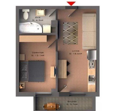 Apartament 2 camere -Bucium , comision 0% - imaginea 1