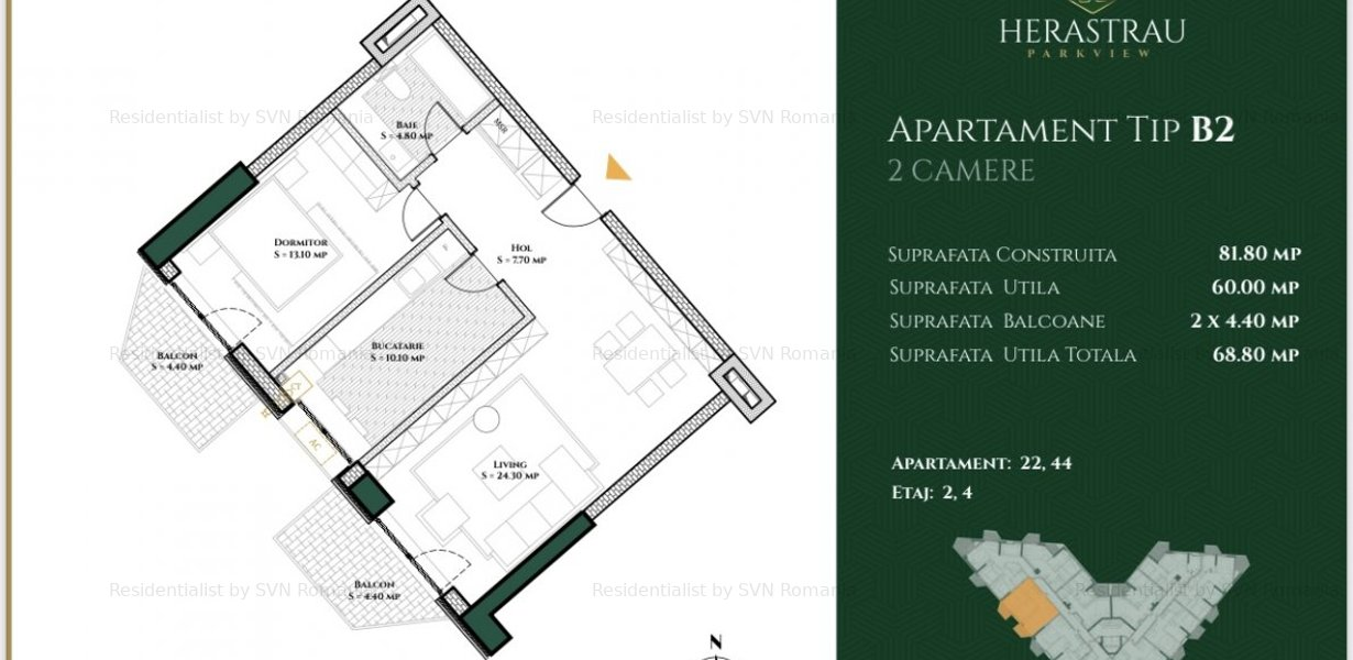 Panorama superba in Herastrau 70mp, 2 terase, 2 camere spatioase - imaginea 3