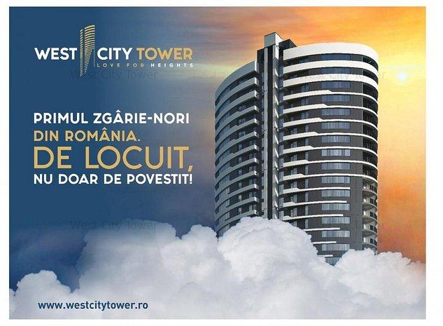West City TOWER!Apartamente de vanzare in cel mai inalt ZGARIE-NORI din ROMANIA! - imaginea 1