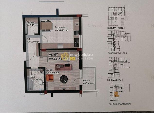 Apartament  2 camere Dambul Rotund - O COMISION - imaginea 1