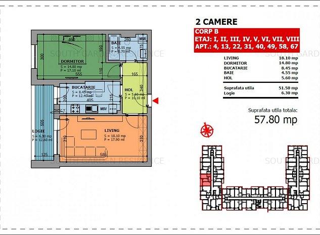PROMO LANSARE PROIECT 2 camere decomandat adiacent Brancoveanu - imaginea 1