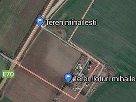 Teren constructii de vânzare, în Mihăileşti, zona Sud-Vest