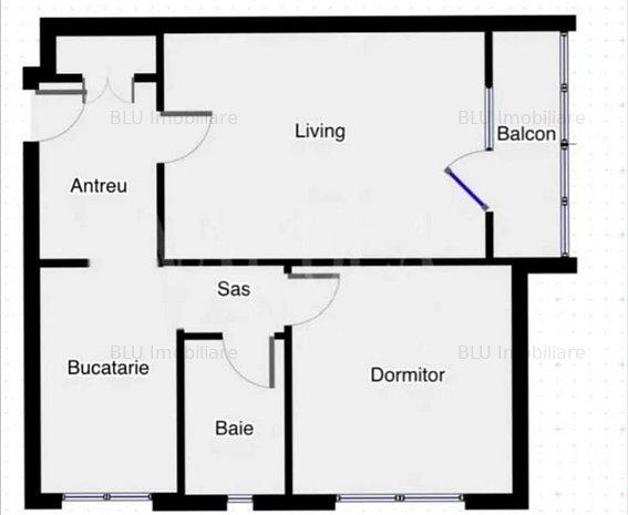 Apartament 2CAM 51MP Etaj 5/10 GRIGORESCU - imaginea 1