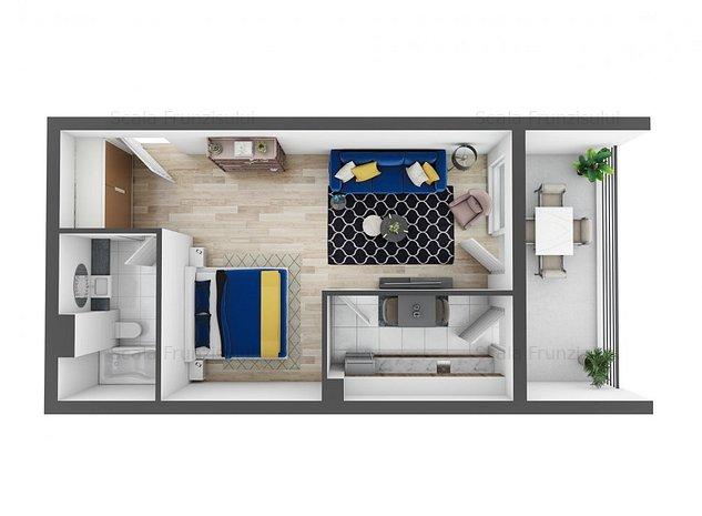 Apartament cu o cameră - Ansamblu rezidențial Scala Frunzișului - imaginea 1