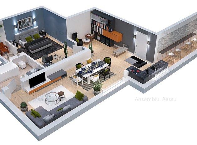 Apartament 2 camere, spatios, bloc nou, 200m distanta statia metrou N Grigorescu - imaginea 1
