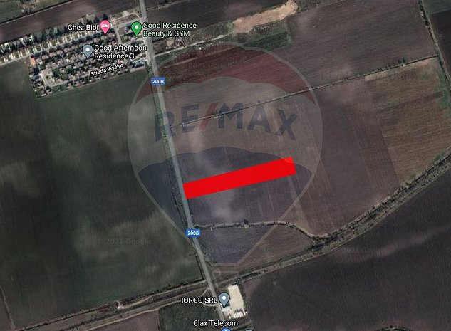 Teren intravilan de 11.448 mp cu acces din soseaua Balotesti-Tunari - imaginea 1