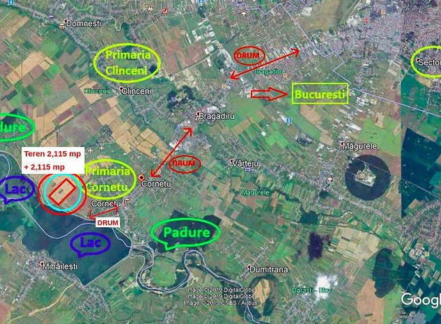 Teren intravilan constructii Cornetu SUPER OFERTA - 6,00 euro/mp - imaginea 1
