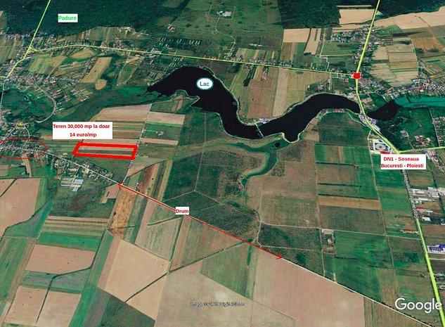 Teren intravilan Peris - Snagov 30,000 mp SUPER OFERTA - 14 euro/mp - imaginea 1