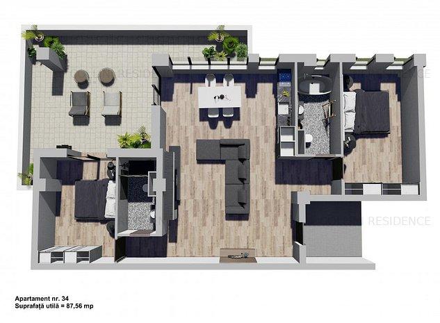 Penthouse cu loc de parcare in subterana - imaginea 1