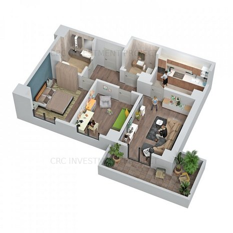 Central Address Residence - APARTAMENT 3 CAMERE - imaginea 1