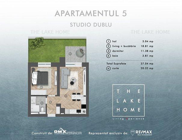 Apartament de vânzare in Sibiu - 1 camere - curte 20.32 mp. - imaginea 1