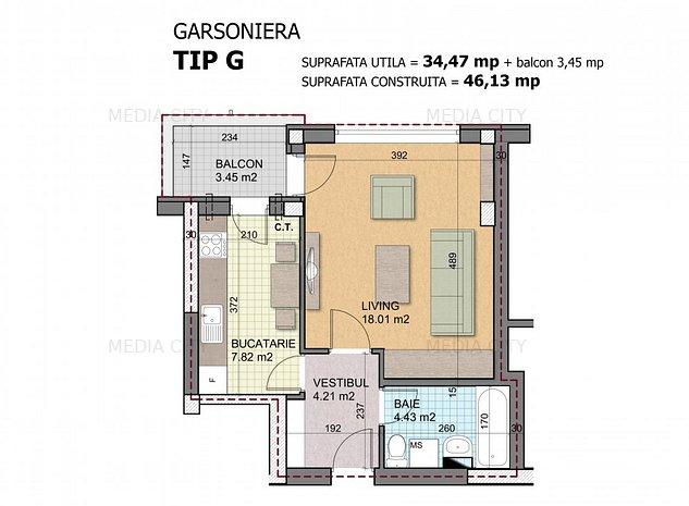 Ansamblu Titan Apartments - Theodor Pallady, garsoniera, bloc nou 2021 - imaginea 1
