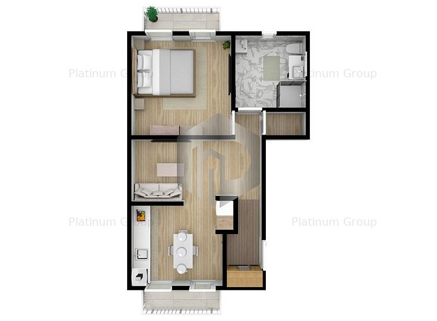 42mp utili- etaj 1   Apartament 2 Camere   Calea Cisnadiei - imaginea 1