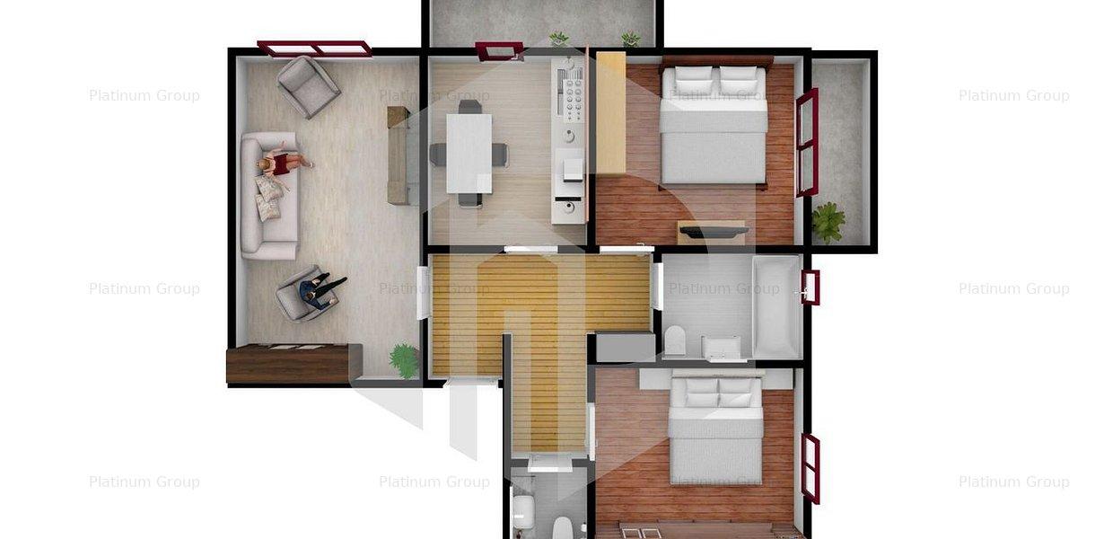 Apartament 3 camere INTABULAT - Turnisor - Sos. Alba Iulia - imaginea 6