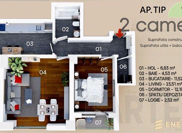 Apartament 2 camere parter Energia Residence - imaginea 1