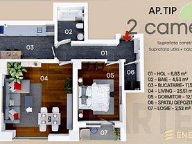 Apartament de vânzare 2 camere, în Constanţa, zona Energia