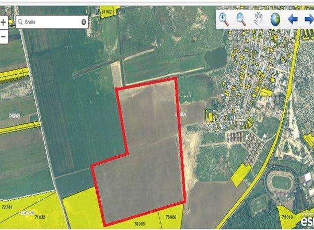 Amplasament teren: Terenul de 308.000 mp este hasurat cu rosu