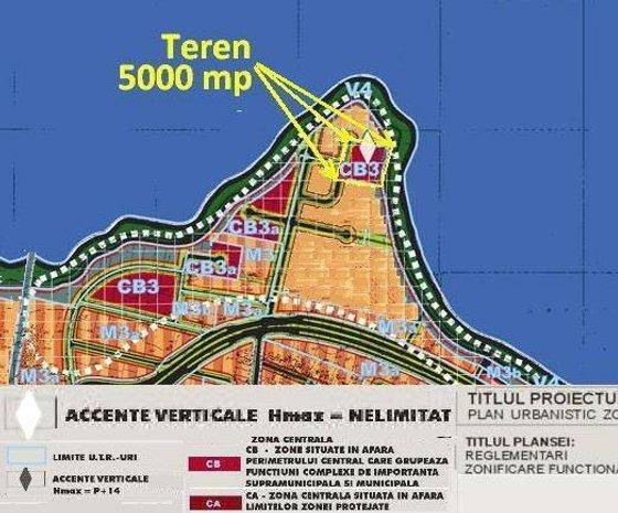 Lacul Morii, 5000 mp pe peninsula, POT=7: Construibil, Accente Verticale, Hmax=Nelimitat, CB3=zona centrala, polii urbani principali