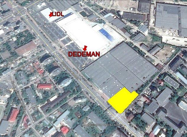 De vanzare HALE 1.368mp, teren 3.062mp bd. Socola Dedeman/Lidl, colt intersectie - imaginea 1