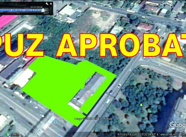 PUZ APROBAT (H55m, P+15) teren 4.476mp zona Octav Bancila/Arcu/Gara/Moara de Foc - imaginea 1