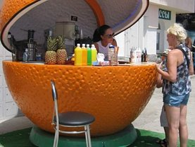 Vânzare kiosk portocala pentru evenimente