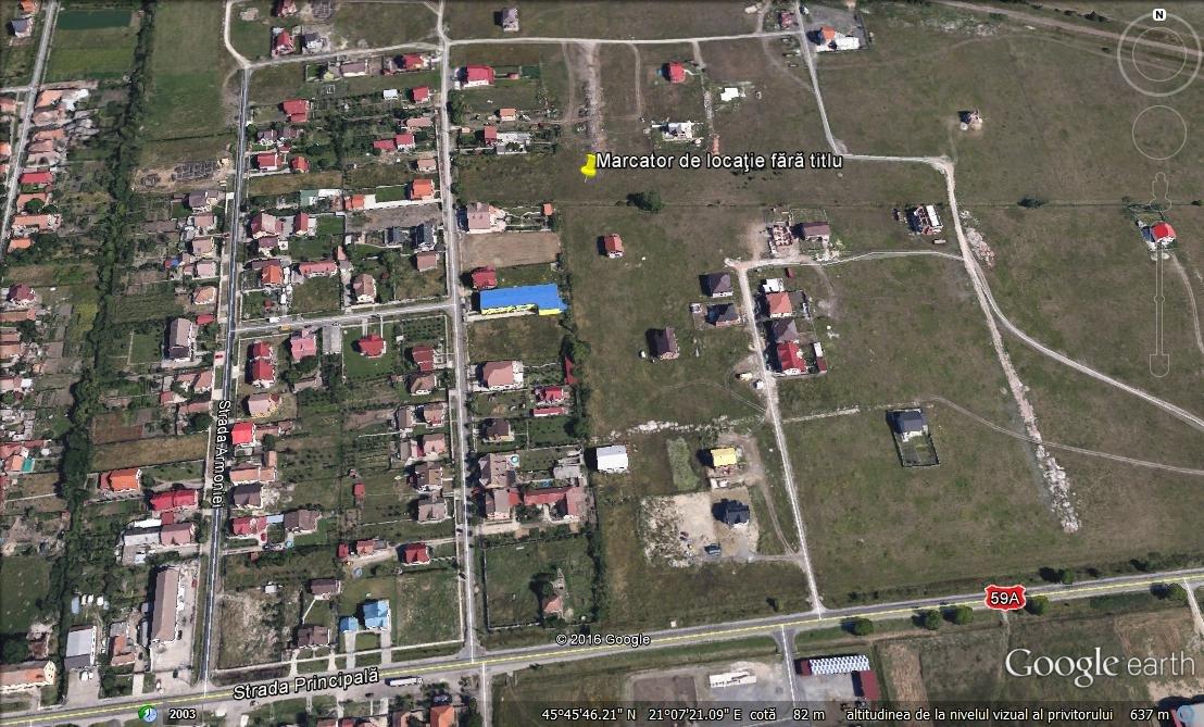 Vand Teren Sacalaz 972 Mp La Intrare Dinspre Timisoara Pe