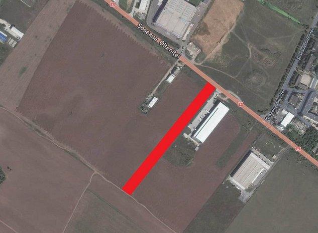 Teren 9200mp DN4 / Oltenitei vis-a-vis de Danubiana, Duke Logistics, Colina - imaginea 1