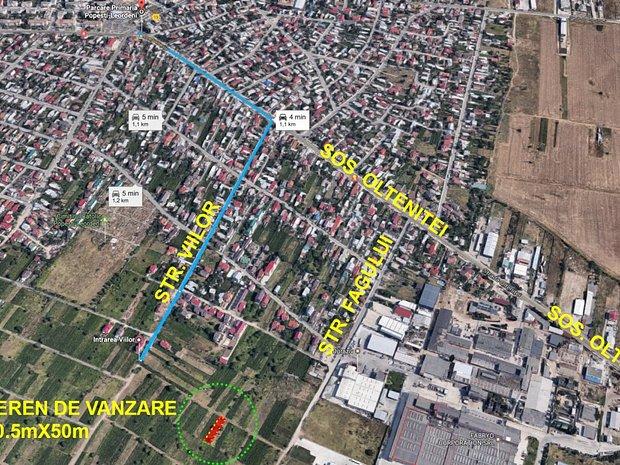 Pozitionare: Distanta fata de centru Popesti-Leordeni