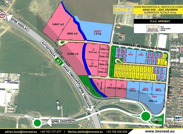 Vand parcele de 2.000 mp teren intravilan pentru depozite si/sau parcare - imaginea 1