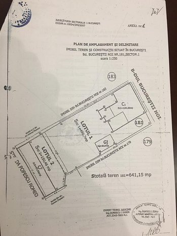 Vanzare Teren dubla deschidere si Constructie P+1 Bucurestii Noi - imaginea 1
