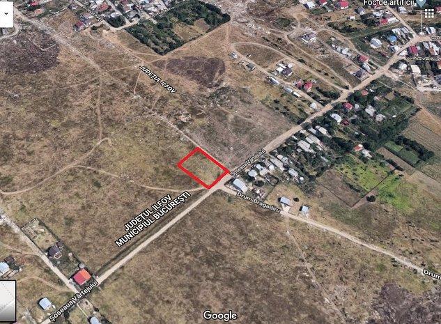 Vanzare teren Bragadiru - 2560 mp - Soseaua Vartejului - imaginea 1
