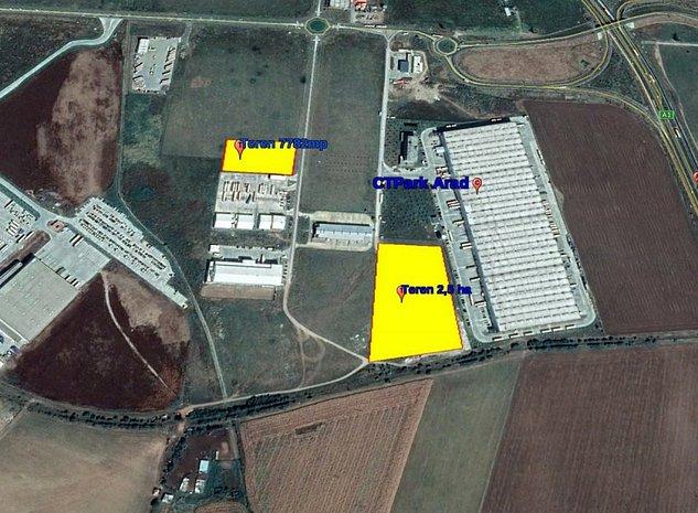 Arad - Zona Industriala Zadareni - Terenuri de vanzare - imaginea 1