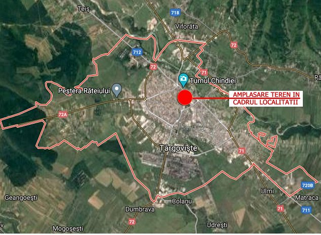 Vanzare teren (1135 mp) si constructii ultracentral Targoviste - imaginea 1