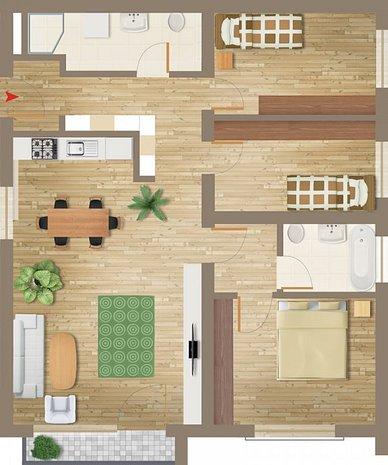 Apartament deosebit cu 3 camere - Subcetate - 2019 - imaginea 1