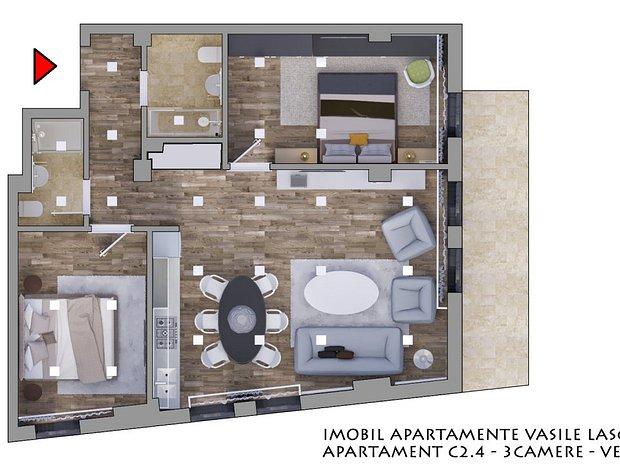 Apartament Daciei Eminescu in Complex Rezidential Premium - imaginea 2